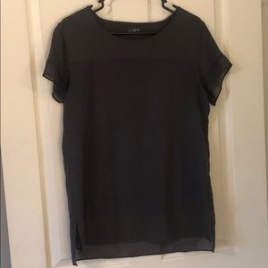 Gray loft blouse